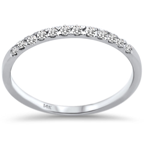 .18ct F SI 14K White Gold Round Diamond Wedding Band Anniversary Stackable Ring