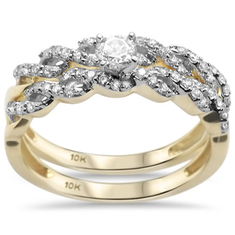 .51CT G SI 10KT Yellow Gold Diamond Engagement Ring Bridal Set Size 6.5