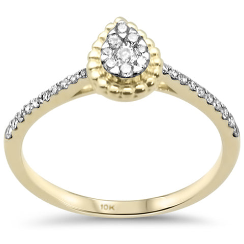 .22ct G SI 10K Yellow Gold Diamond Pear Engagement Ring
