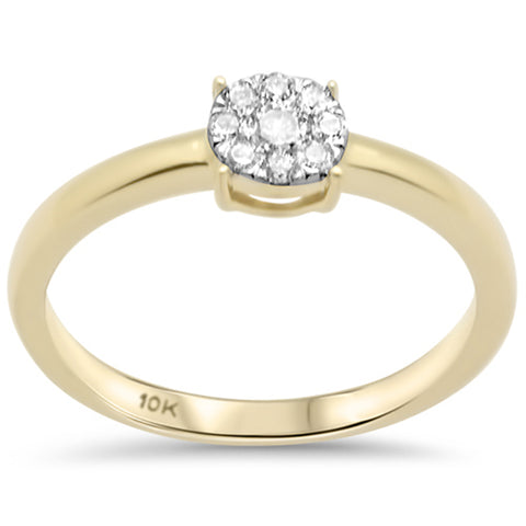 .18ct G SI 10K Yellow Gold Diamond Engagement Ring