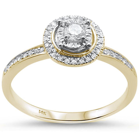 .25ct F SI 14K Yellow Gold Diamond Engagement Ring