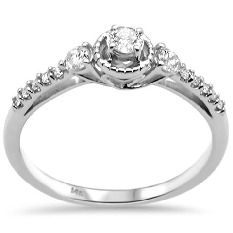 .32ct G SI 14K White Gold  Diamond  Engagement Ring Size 6.5