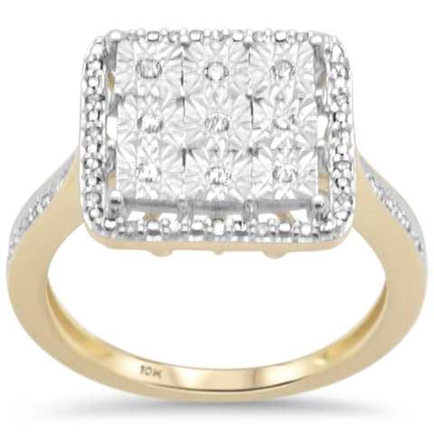 .15ct F SI 10K Yellow Gold Diamond Engagement Ring Size 6.5