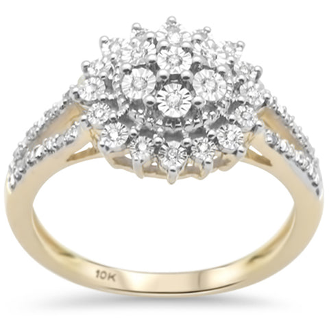 .16ct F SI 10K Yellow Gold Diamond Engagement Ring Size 6.5