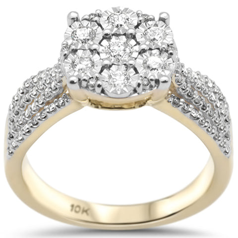 .47ct G SI 10K Yellow Gold Diamond  Engagement Ring Size 6.5