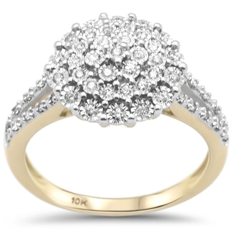 .26ct F SI 10K Yellow Gold Diamond Engagement Ring Size 6.5