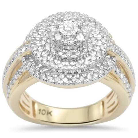 1.02ct F SI 10K Yellow Gold Diamond Engagement Ring Size 6.5