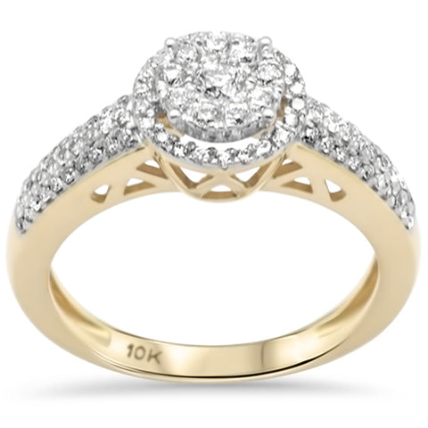 .49ct F SI 10K Yellow Gold Diamond Engagement Ring Size 6.5