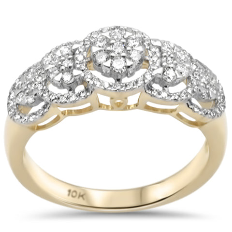 .50ct F SI 10K Yellow Gold Diamond Engagement Ring Size 6.5