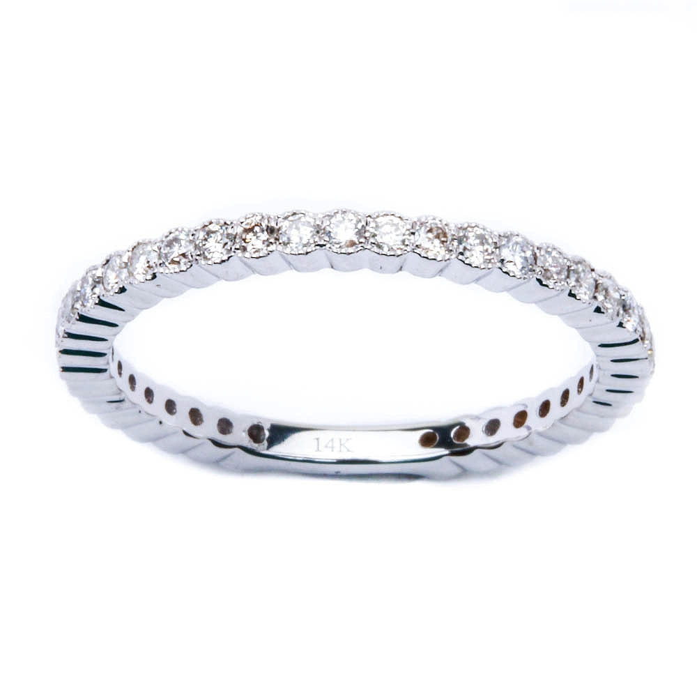 .42ct Bezel Set Eternity Round Diamond Wedding Stackable Anniversary Band