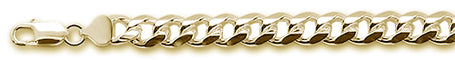 250-9MM Yellow Gold Plated Miami Cuban Chain .925 Solid Sterling Silver Sizes 8-28""
