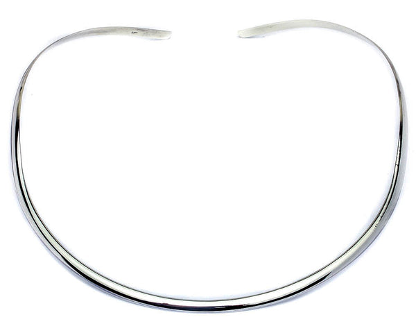 Plain 4MM Collar Choker .925 Sterling Silver Necklace Made in Italy