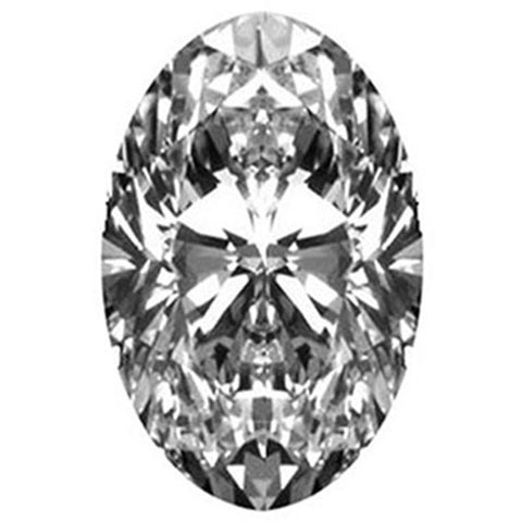 1.01CT H SI1 OVAL BRILLIANT CUT LOOSE DIAMOND