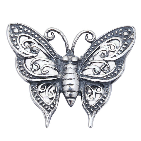 Filigree Butterfly Pendant .925 Sterling Silver