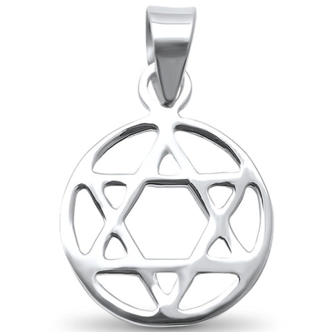 Plain Star of David Religious  .925 Sterling Silver Pendant