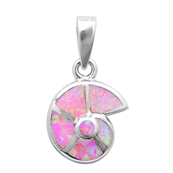Pink Opal Shell .925 Sterling Silver Pendant