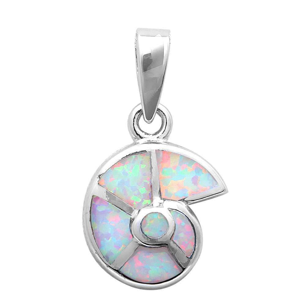 White Opal Shell .925 Sterling Silver Pendant