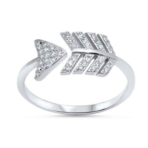 <span>CLOSEOUT!</span> Arrow Cubic Zirconia  .925 Sterling Silver Ring Sizes 5-10