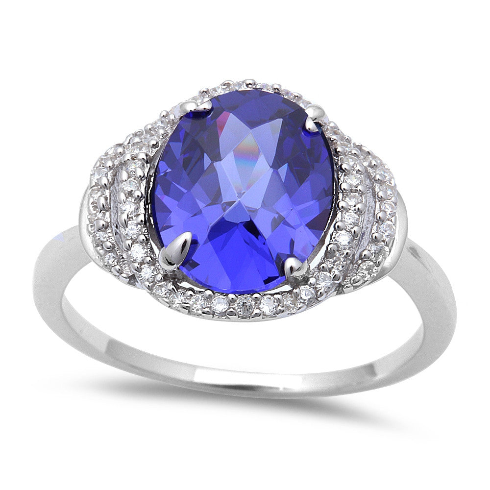 7ct Tanzanite CZ .925 Sterling Silver Ring Sizes 5-9