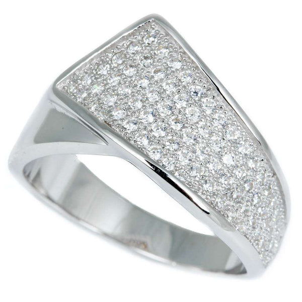 1CT Micro Pave Cz Fashion Engagement .925 Sterling Silver Ring Sizes 6-10
