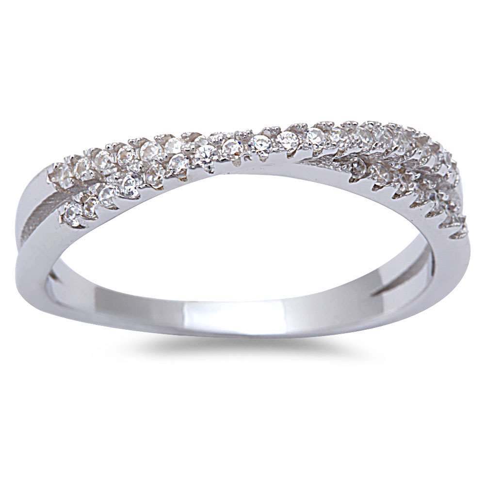 New Style Cz Infinity .925 Sterling Silver Ring Sizes 6-9
