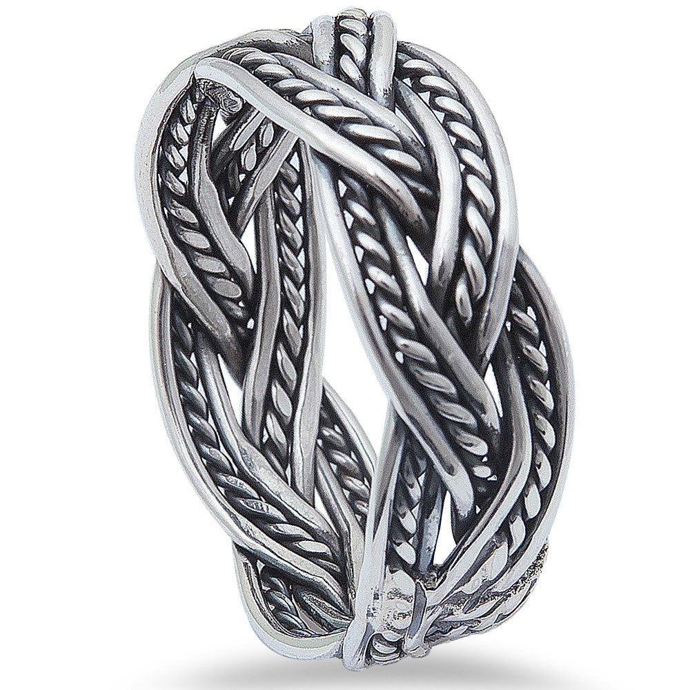 New Infinity Band .925 Sterling Silver Ring Sizes 6-9