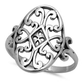 Celtic Design .925 Sterling Silver Ring Sizes 5-9
