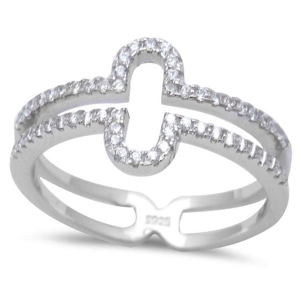 New Design Cz Fashion .925 Sterling Silver Ring Sizes 5-9
