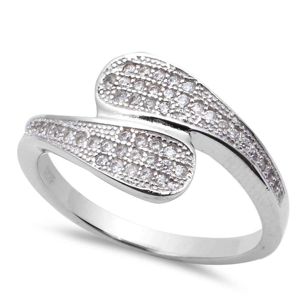 New Micro Pave Cz .925 Sterling Silver Ring Sizes 5-9