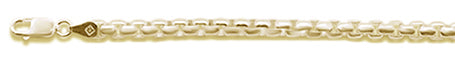 250 4.4MM Yellow Gold Plated Round Box Chain .925  Solid Sterling Silver Sizes 8-28""
