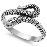 Solid Snake .925 Sterling Silver Ring Sizes 3-9