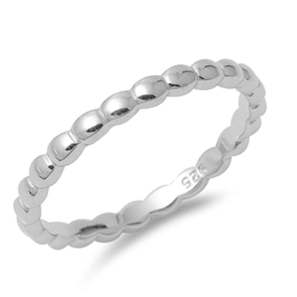Plain Eternity Band .925 Sterling Silver Ring Sizes 4-10