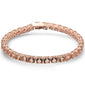 4 Prong Round Morganite .925 Sterling Silver Bracelet