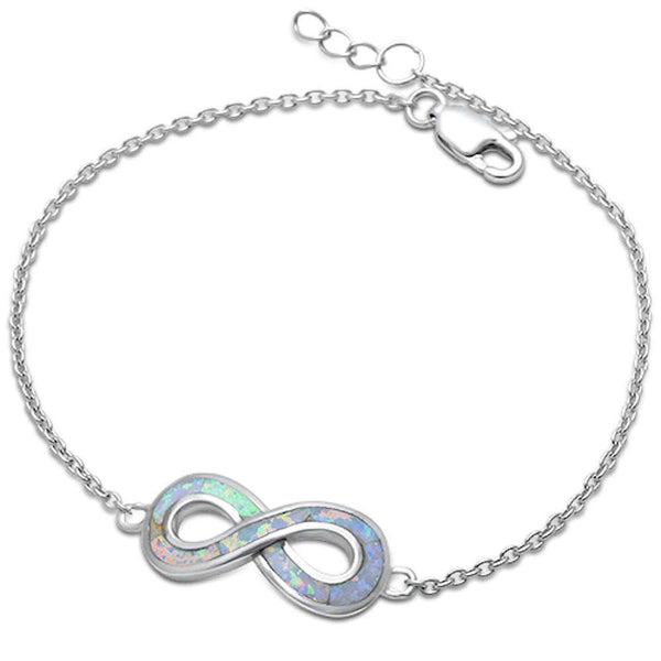 Sonara Jewelry- White Fire Opal Infinity .925 Sterling ...