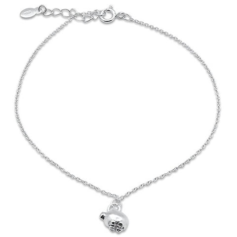 "Plain Pig .925 Sterling Silver Anklet 9""Long"