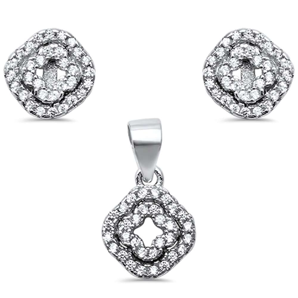 9ebec6ac89055 New Design Cz .925 Sterling Silver Earring and Pendant Set