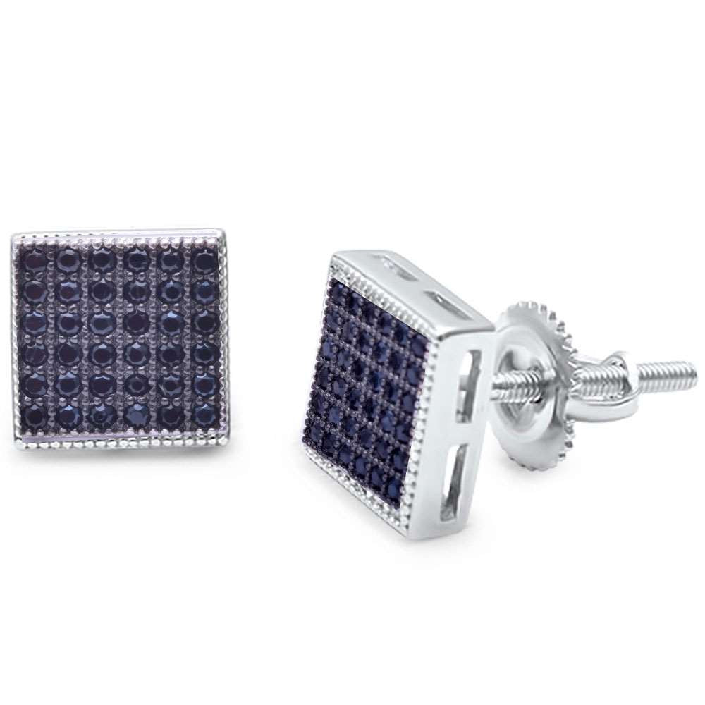 662ea1872 Black Onyx Square MicroPave Stud .925 Sterling Silver Earrings. prev