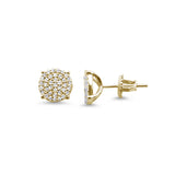4MM Micro Pave Round CZ .925 Sterling Silver Stud Earrings