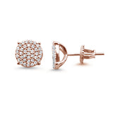 6MM Micro Pave Round CZ .925 Sterling Silver Stud Earrings