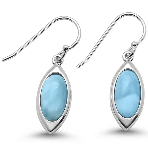 Natural & Cz Marquise Dangle  .925 Sterling Silver Earrings