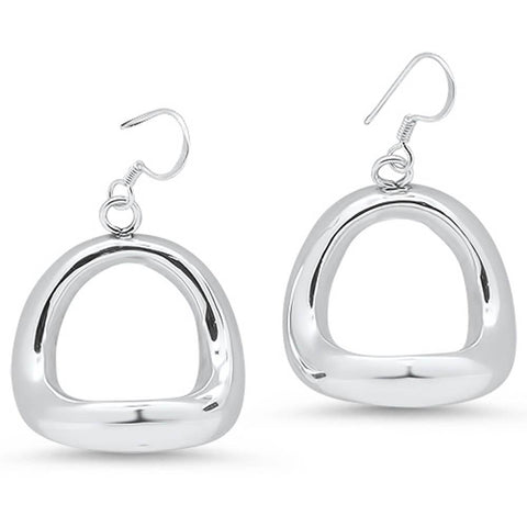 Electroform Plain Thick Hoop .925 Sterling Silver Earrings