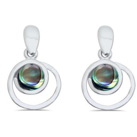 Abalone Shell Dangle Style .925 Sterling Silver Earring