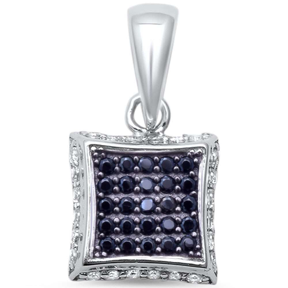 Micro Pave .925 Sterling Silver Pendant