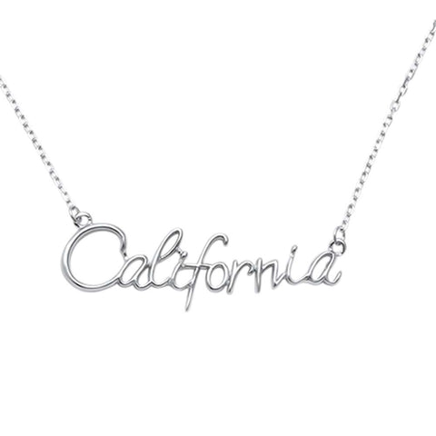 "Plain California .925 Sterling Silver Necklace 14"" Ext 1.75"""