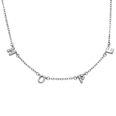 Cubic Zirconia Hope .925 Sterling Silver Necklace