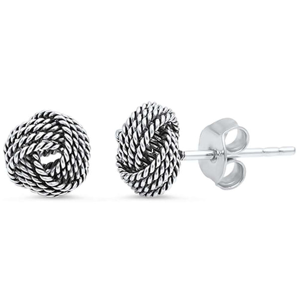 Braided Studs .925 Sterling Silver Earring