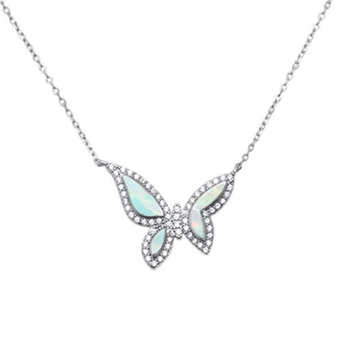 Butterfly .925 Sterling Silver Necklace