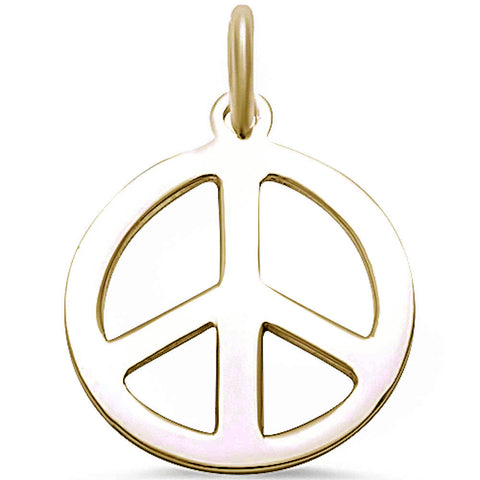 Plain Peace Sign .925 Sterling Silver Pendant