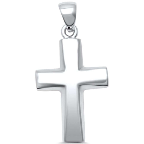 Plain Cross  .925 Sterling Silver Pendant