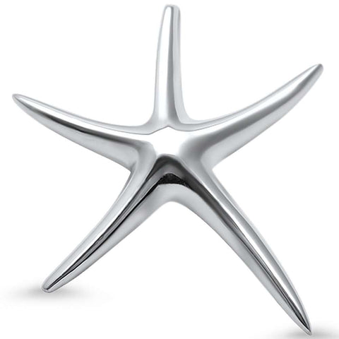 Plain Starfish .925 Sterling Silver Pendant